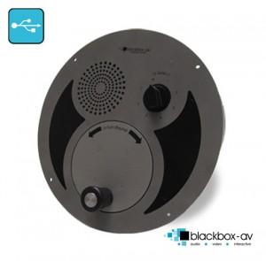 Oversized U-Turn round panel, outdoor wind up audio