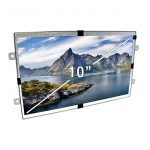 10 Inch Open Framed Screen Front View with Text