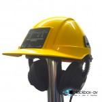 Hardhat and Robust Headphones With Sticker