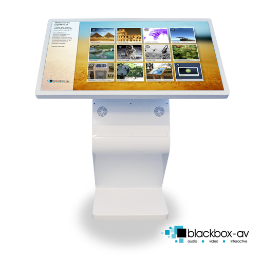 'Modern' 42″ Free Standing Multi-Touch Kiosk - Front