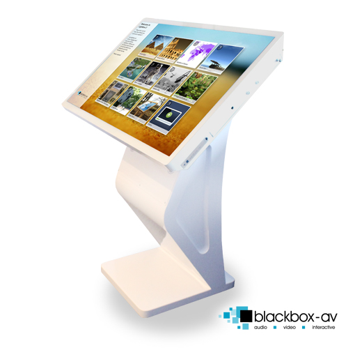'Modern' 42″ Free Standing Multi-Touch Kiosk - Side View