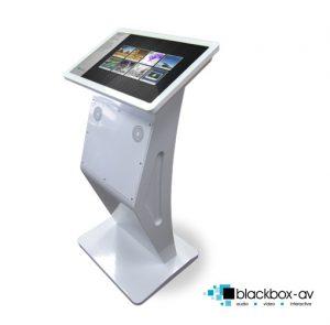 Modern Free Standing kiosk White