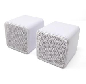 80 Watt Mini Box Speakers in White