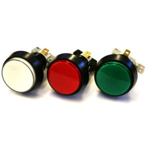 Amusement Buttons in Red, White and Green