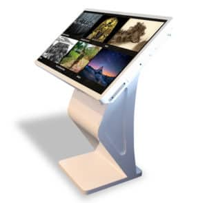 Angled View of 42 Inch Modern Free Standing Kiosk