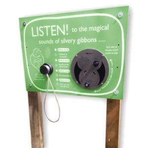 AudioSign Turn installed at Curraghs Wildlife Park