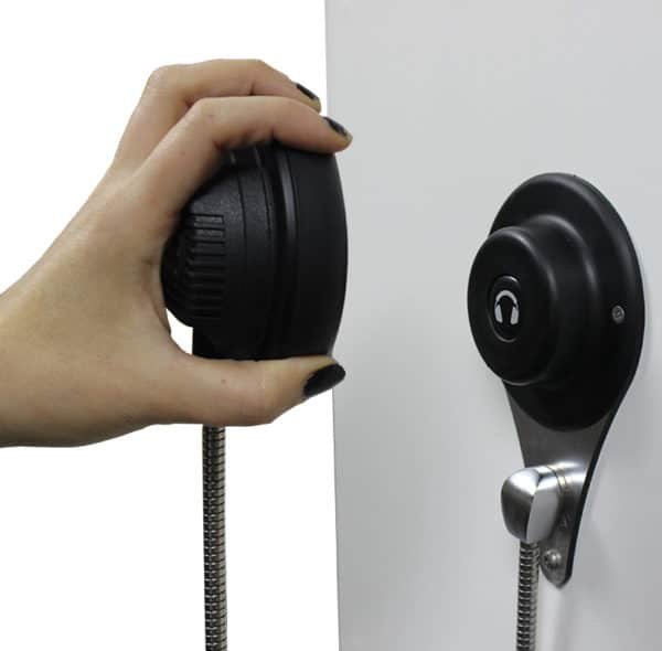 AutoPlay Single Cup Headphones with magnetic hanger