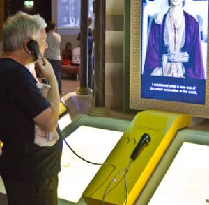Black Plastic Handset installed in 1001 Inventions exhibition