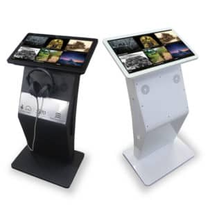 Black and White 22 Inch Modern Free Standing Kiosks