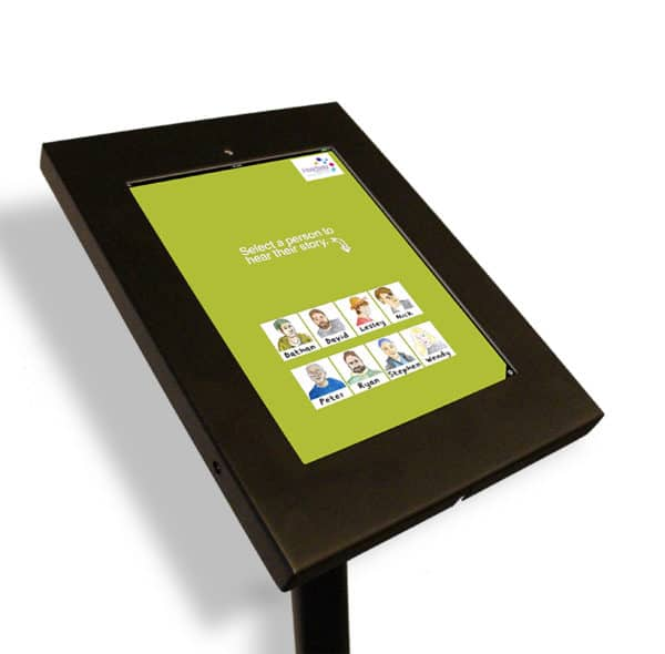 Free-Standing iPad Stand & Enclosure Portrait Mode