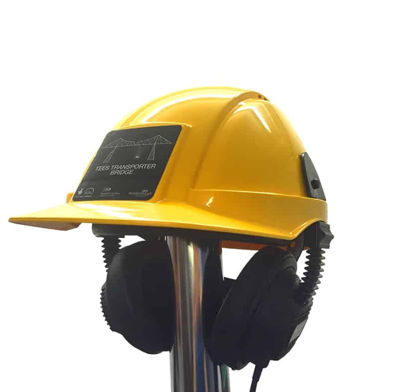 hardhat with headphones interpretationshop