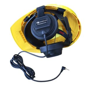 Inside of Hardhat With Headphones