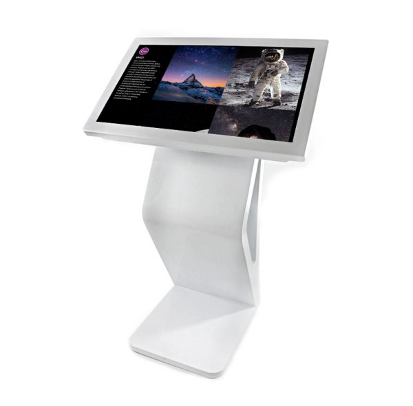 Modern 32 Inch Free-Standing Kiosk with Lightbox 3 Collections
