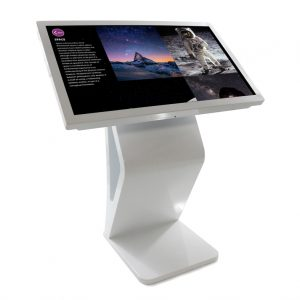 Modern 42 Inch Free-Standing Kiosk with Lightbox 3 Collections