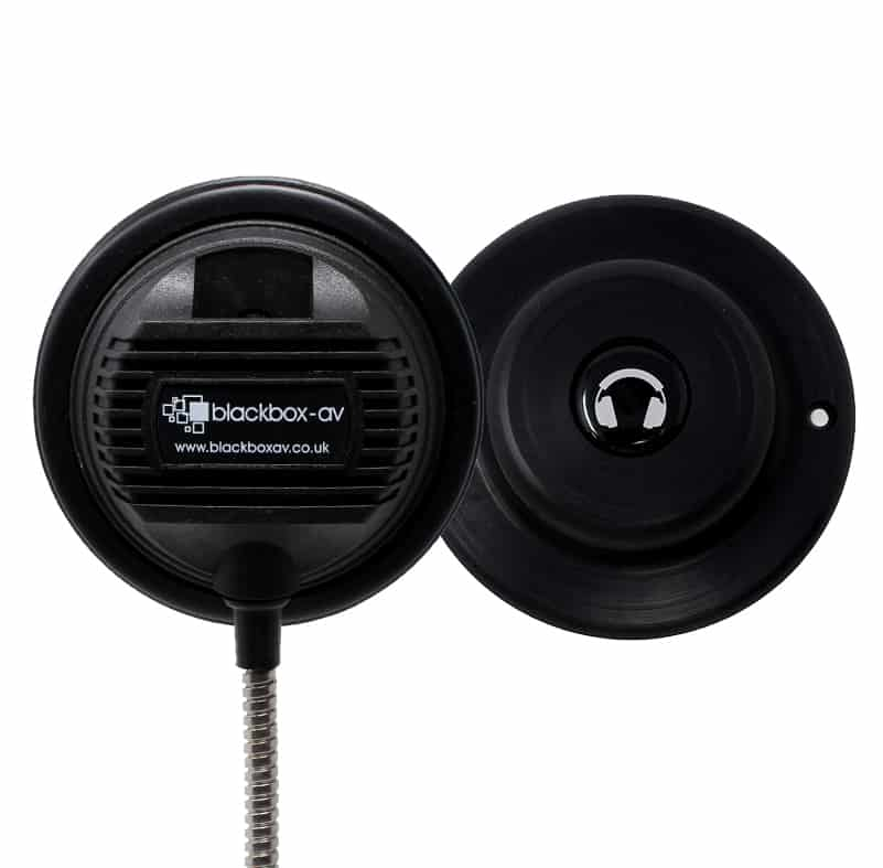 Single Cup Armoured Cable Headphones with magnetic hanger