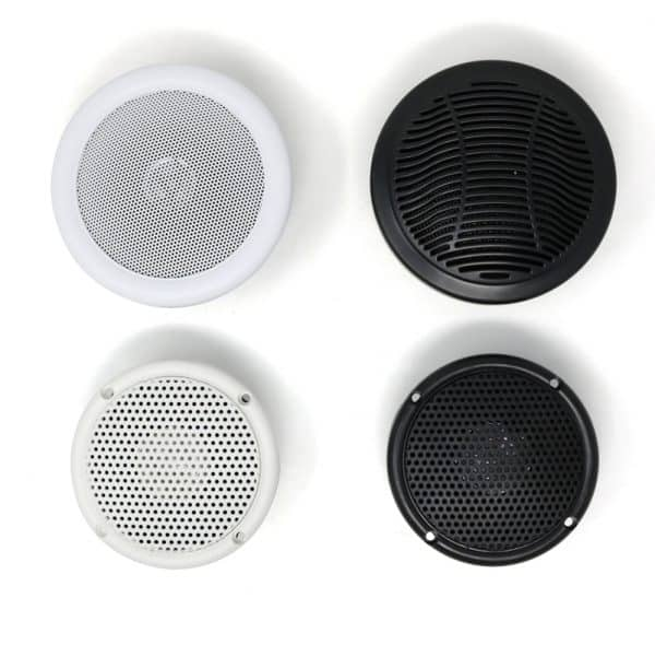 Waterproof Black and White Through Panel Speakers