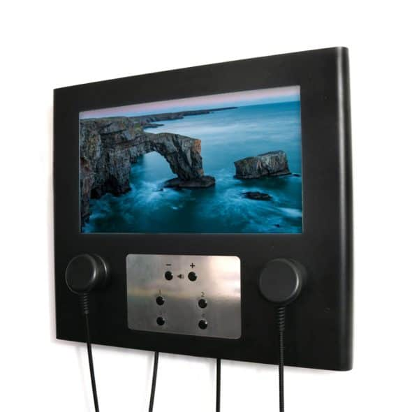 Wall Mounted 22 Modern AV Point with 6 Button Connections (Image-©Josh-Matthews)