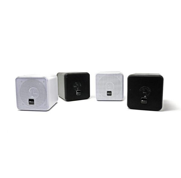 Mini Box Speakers black and white