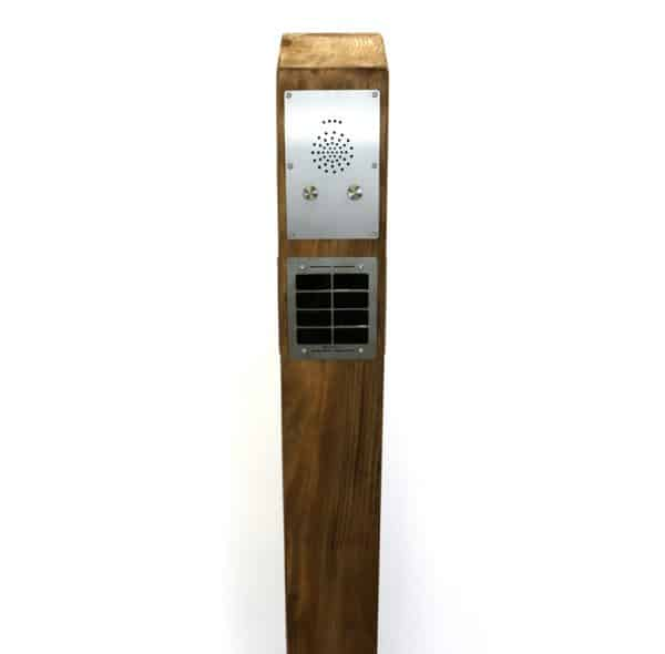 Solar Audio Post Wooden In Ground (Base Point)